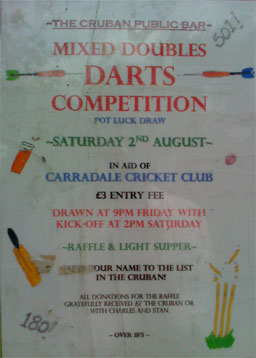 [Mixed Doubles Darts in The Cruban Bar, Carradale]