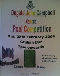 [Dugald John Campbell Memorial Pool Competition]
