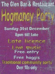 [Hogmanay at The Glen Bar Carradale]