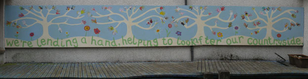 [New Mural at Carradale Primary School]